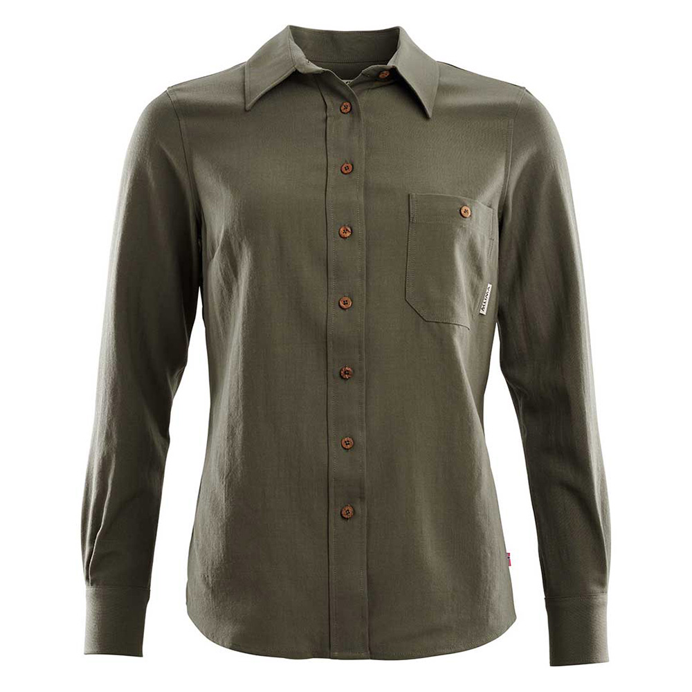 LEISUREWOOL WOVEN WOOL SHIRT WOMAN